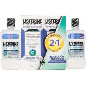 listerine pack listerine professional anticaries 2x1