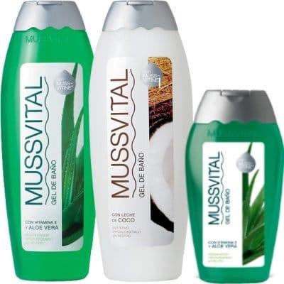 Mussvital Pack gel aloe + coco 750 ml. + gel aloe 300 ml.