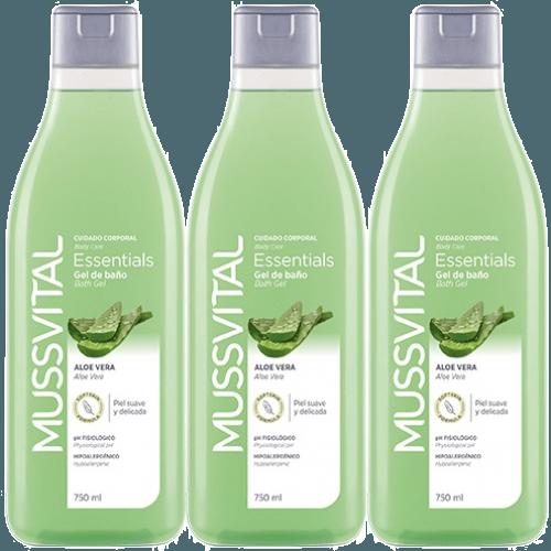 Mussvital Mussvital Pack 3 Geles Aloe Vera