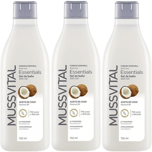 Mussvital Mussvital pack 3 geles coco