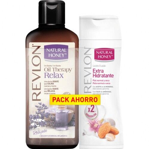 Natural Honey Pack Gel Ducha Oil Therapy Relax Más Loción Extrahidratante