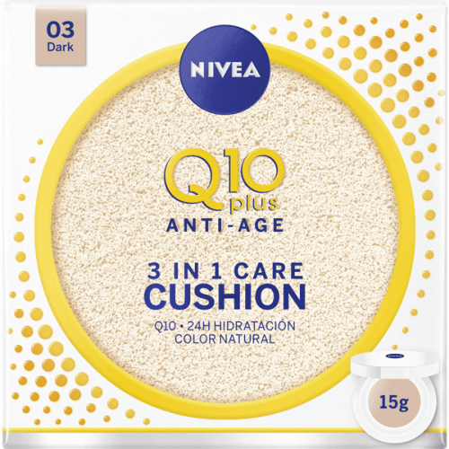 Nivea 03, Dark Q10 Plus Anti Aging Cream With Colour 3 en 1