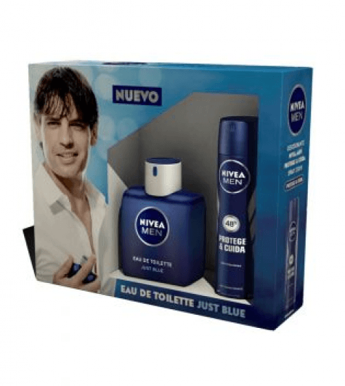 Nivea Pack Nivea Men Just Blue Eau de Toilette más Desodorante Spray