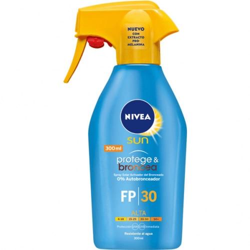 Nivea Spray Solar Resistente Al Agua Pistola FP 30