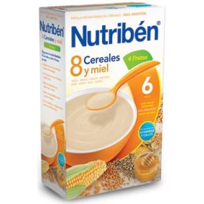 Nutriben Papilla 8 cereales y miel 4 frutas