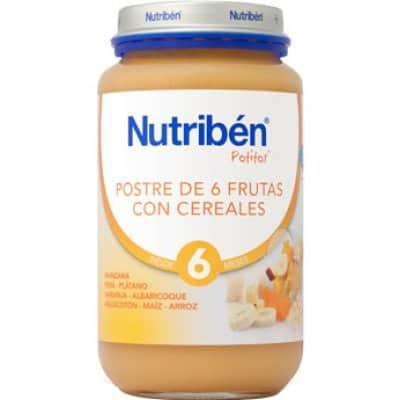 Nutriben Potito postre 6 frutas con cereales