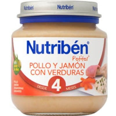 Nutriben Potito bebé pollo y jamón con verduras