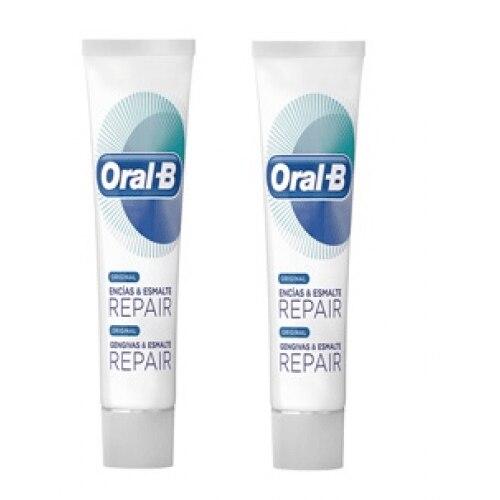 Oral-b Duplo Pasta Dental Encías Y Esmalte Repair Original