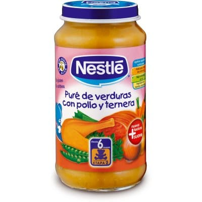 Nestle Tarrito pure de verduras con pollo y ternera