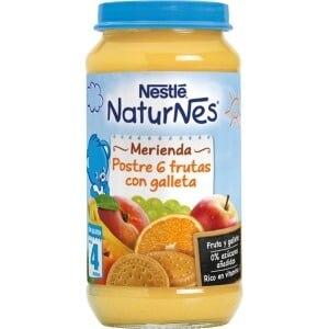 Nestle Nestle naturnes postre 6 frutas con galleta