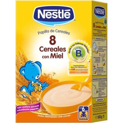 Nestle Papilla 8 cereales y miel nestle