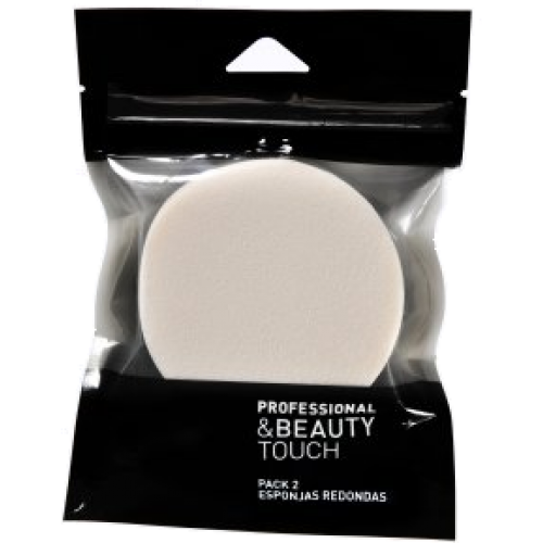 professional & beauty touch esponja redonda pack