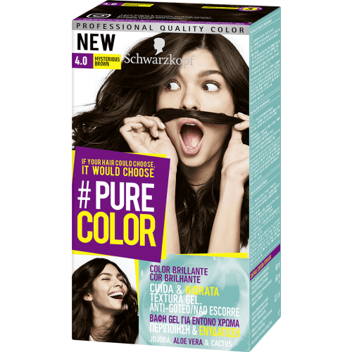Pure Color Schwarzkopf Tinte Pure Color 4 0 Mysterious Brown