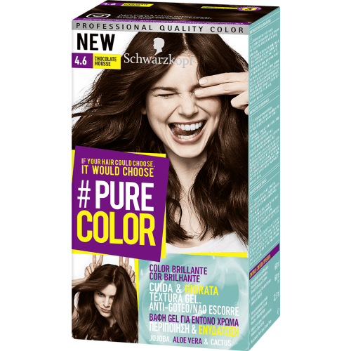 Pure Color Schwarzkopf Tinte Pure Color 4 6 Chocolate Mousse