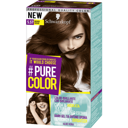 Pure Color Schwarzkopf Tinte Capilar 5.57 Brown Sugar