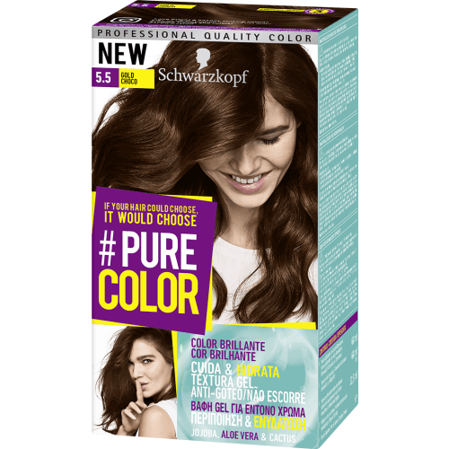 Pure Color Schwarzkopf Tinte Capilar 5.5 Gold Choco