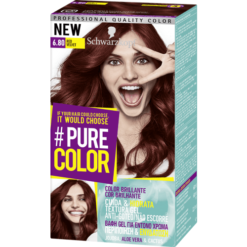 Pure Color Schwarzkopf Tinte Capilar 6.80 Red Velvet