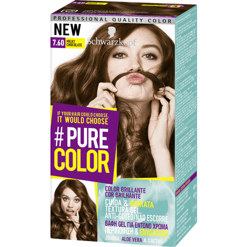 Pure Color Schwarzkopf Tinte Capilar 7.60 Milky Chocolate