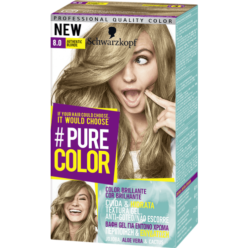 Pure Color Schwarzkopf Tinte Capilar 8.0 Authentic Blonde