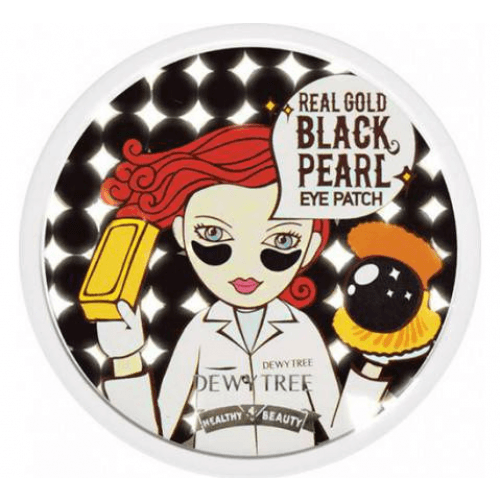 Dewytree Real Gold Black Pearl Eye Patch