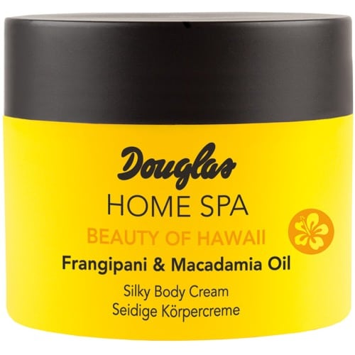 douglas home spa silky body cream frangipani macadamia oil
