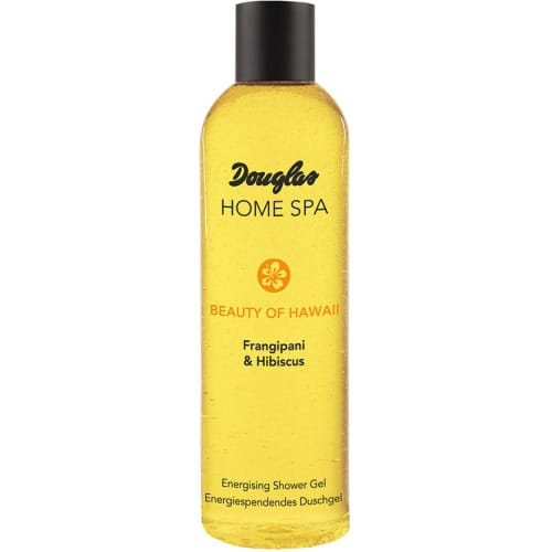 douglas home spa energising shower gel frangipani hibiscus