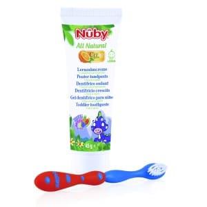 Nuby Citroganix pasta y cepillo denticion + 24 m