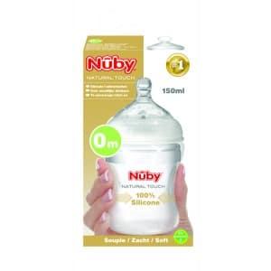 Nuby Biberón silicona flexible + 0 m